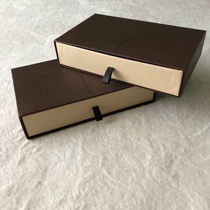 RARE Set of 2 Louis Vuittton Brown Storage Boxes